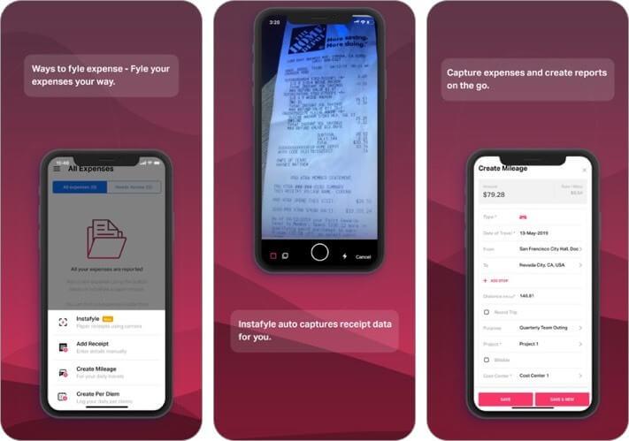 fyle: expense reports iphone and ipad ai app screenshot