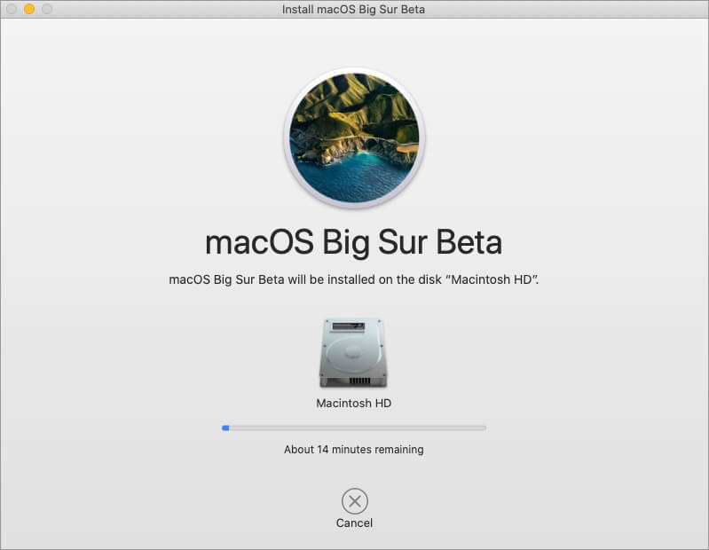 installing macos bug sur public beta on mac