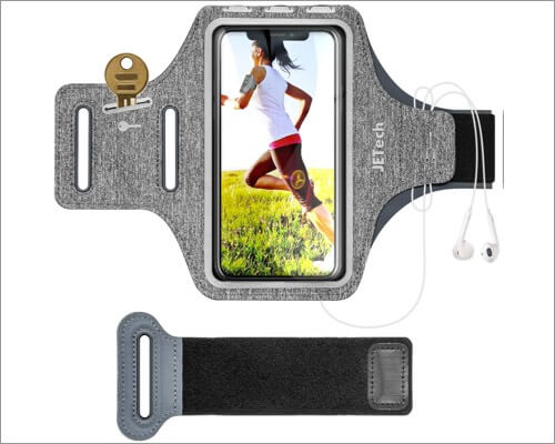 jetech armband with keyholder for iphone 11, 11 pro and 11 pro max