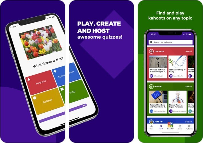 kahoot! play & create quizzes iphone and ipad multiplayer game screenshot