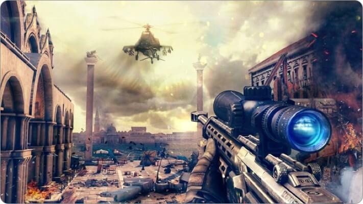 modern combat 5 apple tv game screenshot