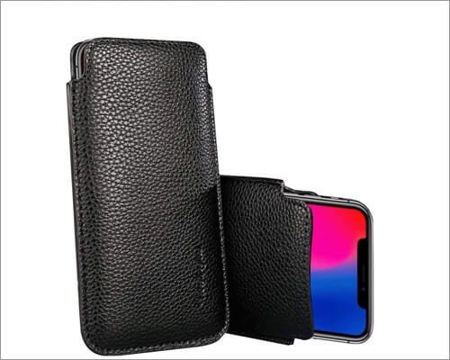 modos logicos synthetic leather sleeve for iphone xr