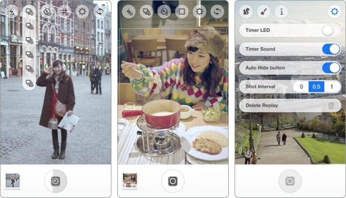 instant camera iphone self-timer camera app screenshot