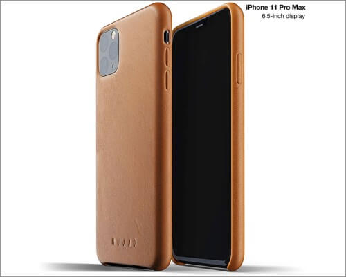 mujjo soft leather cover for iphone 11 pro max