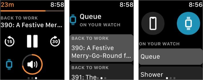 overcast apple watch music app screenshot