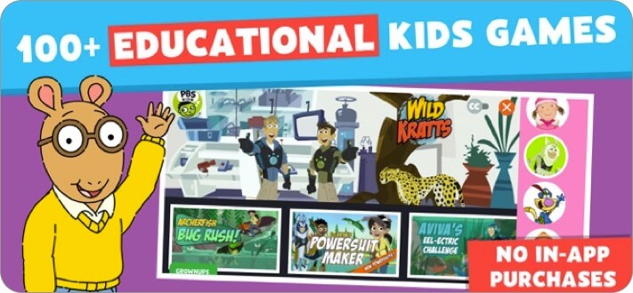 pbs kids games iphone and ipad screenshot