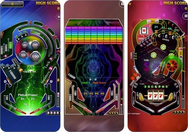 pinball flipper classic arcade iphone and ipad game screenshot