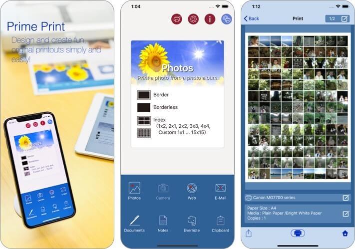 prime print iphone and ipad printing app screenshot