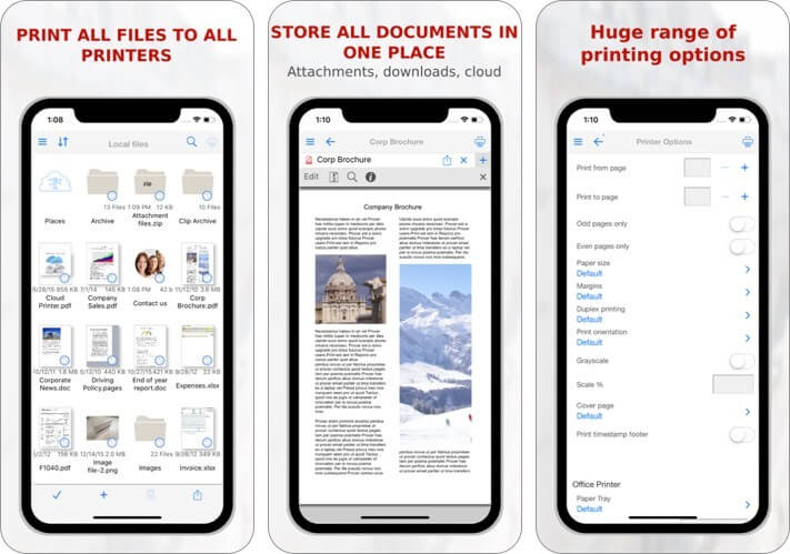 print n share iphone and ipad printing app screenshot