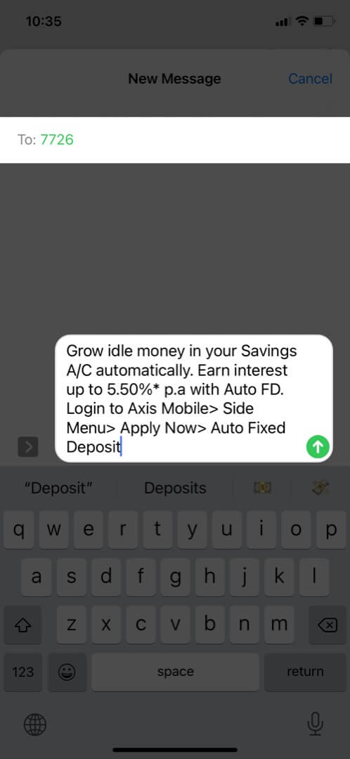 report spam message to your carrier