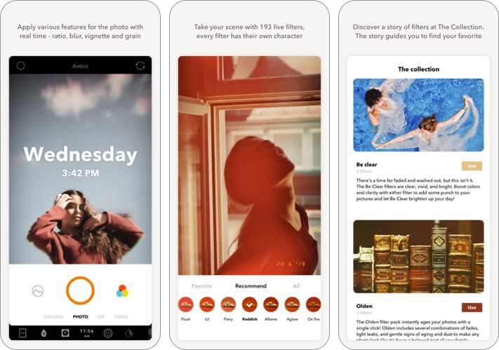 retrica iphone self-timer camera app screenshot
