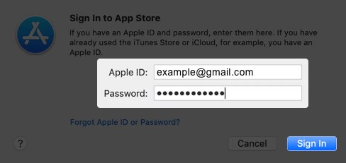 sign in with your apple id on mac