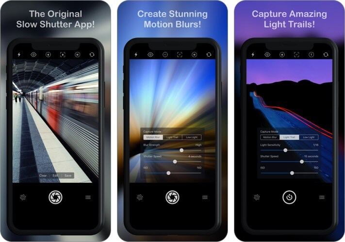 slow shutter camera iphone self-timer camera screenshot of the app