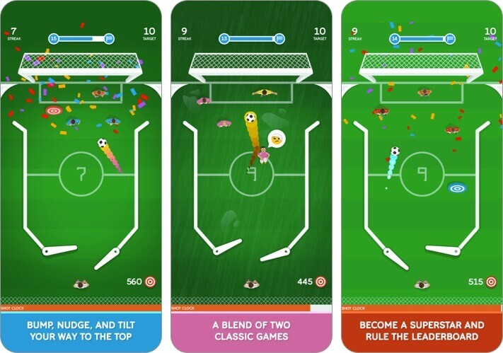 soccer pinball pro iphone and ipad game screenshot