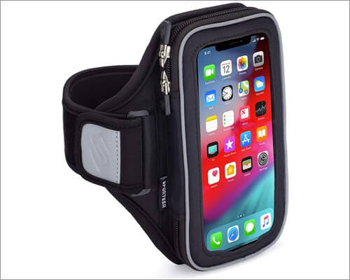 sporteer velocity v8 running armband for iphone 11, 11 pro and 11 pro max