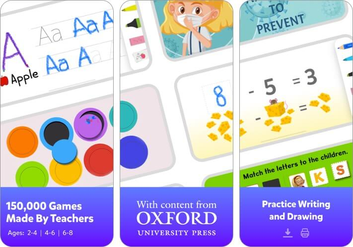 tinytap: kids' learning games iphone and ipad screenshot