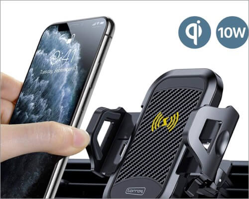 torras ultimate wireless car charger mount for iphone 11, 11 pro and 11 pro max