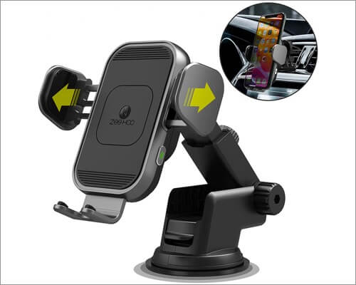 zeehoo wireless car charger mount for iphone 11, 11 pro and 11 pro max