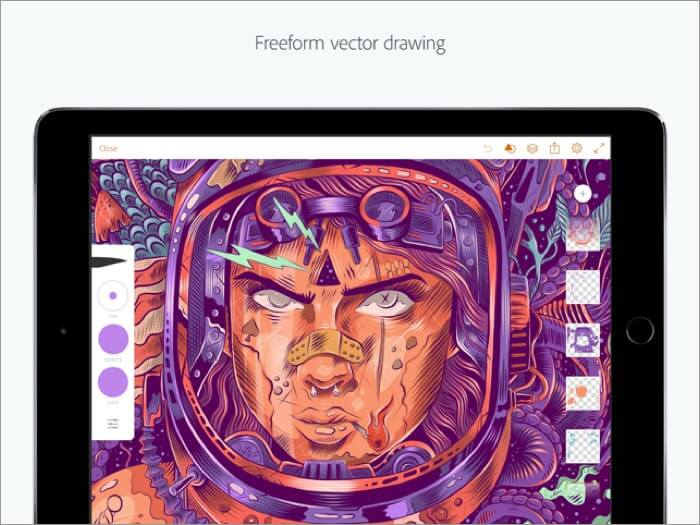 adobe illustrator iphone and ipad app screenshot