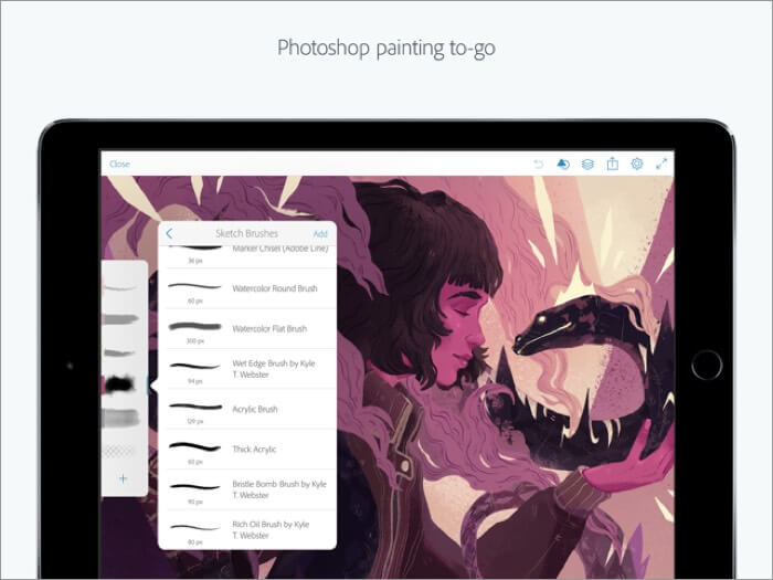 adobe photoshop iphone and ipad app screenshot