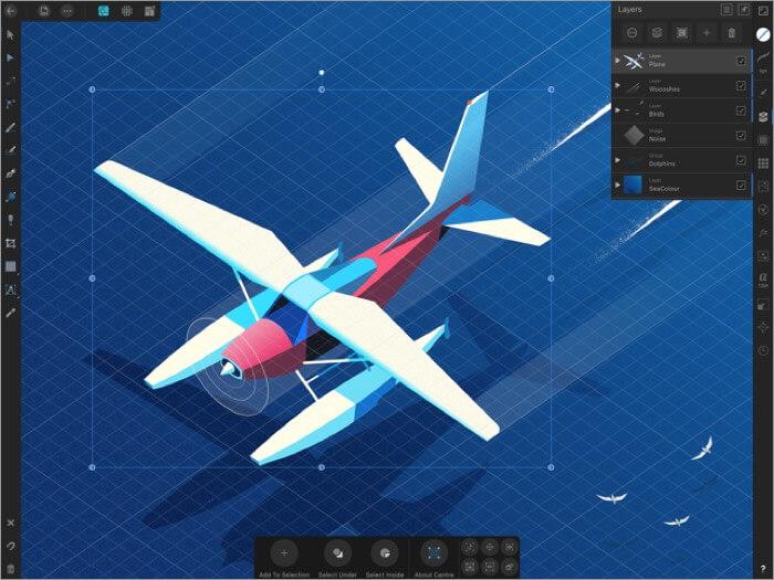 affinity designer ipad app screenshot