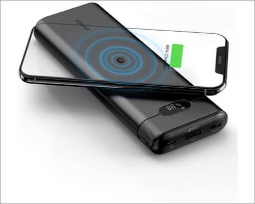 aideez wireless power bank for iphone 11, 11 pro, and 11 pro max