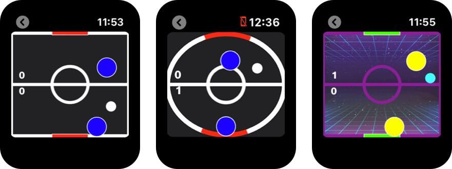 air hockey wear apple watch game screenshot