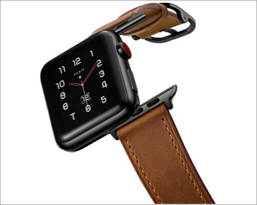 amband leather band for apple watch series 5