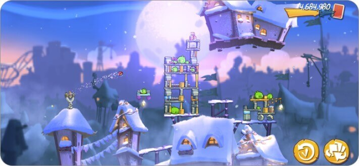 angry birds 2 iphone game screenshot