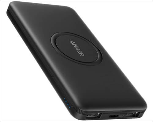 anker powercore wireless power bank for iphone 11, 11 pro, and 11 pro max