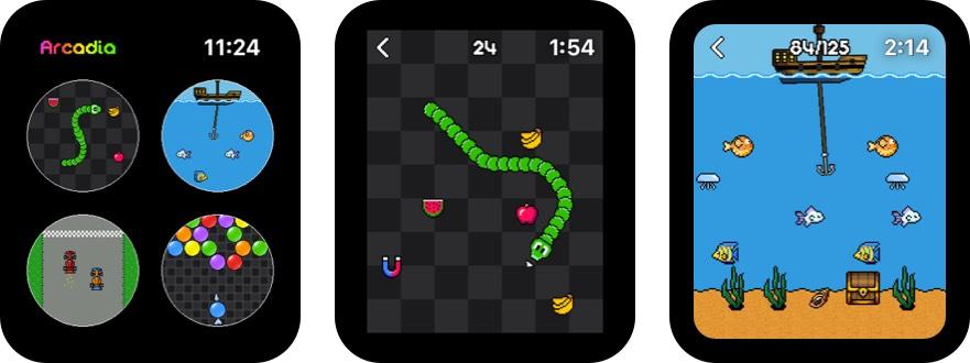 arcadia apple watch game screenshot