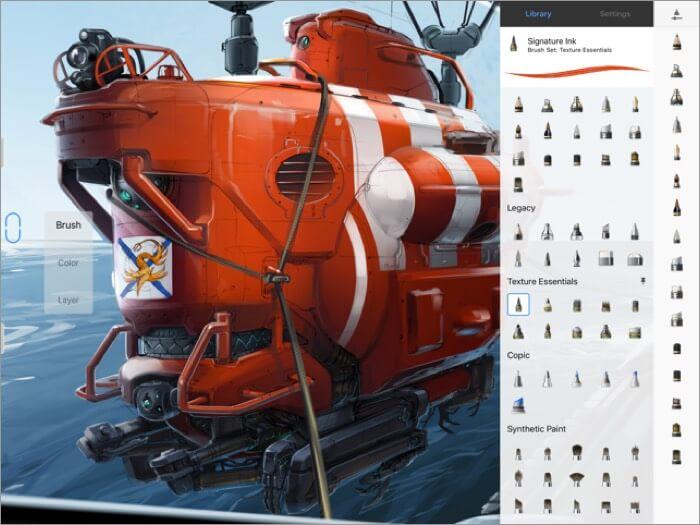 autodesk sketchbook iphone and ipad app screenshot