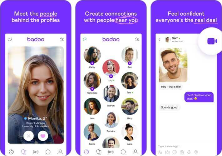 badoo iphone dating app screenshot