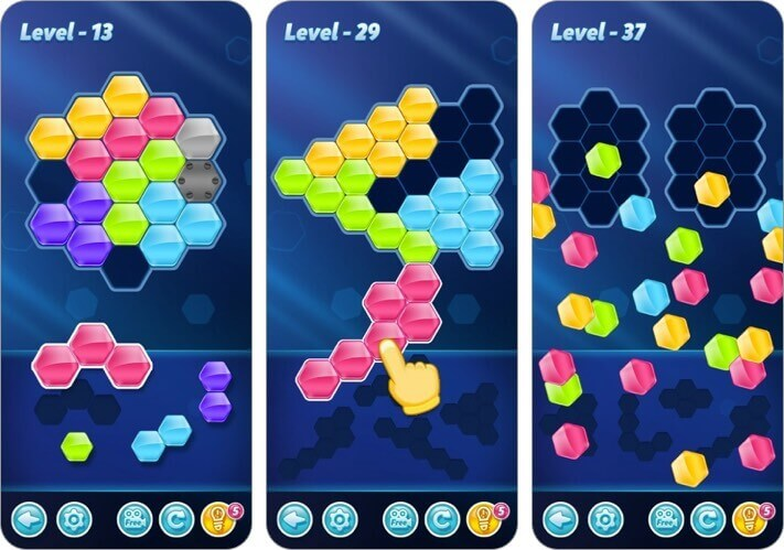 block! hexa puzzle iphone and ipad game screenshot