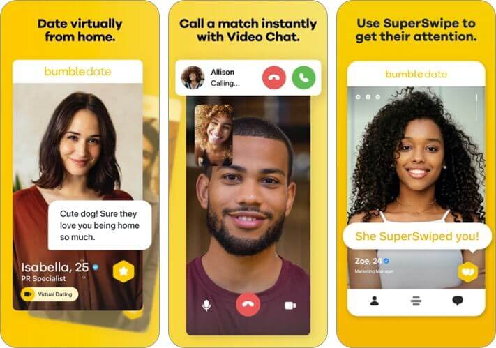 bumble iphone dating app screenshot