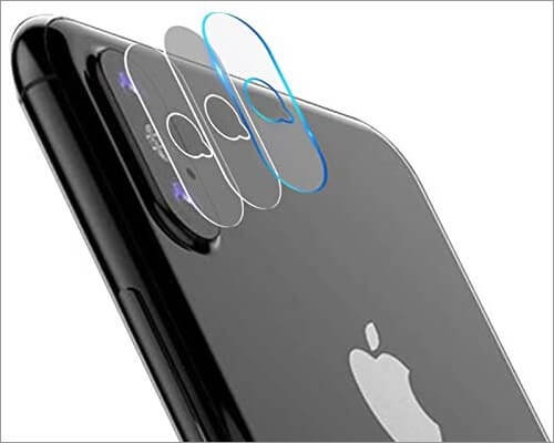 casetego camera lens protector for iphone xs and xs max