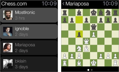 chess - play and learn apple watch game screenshot