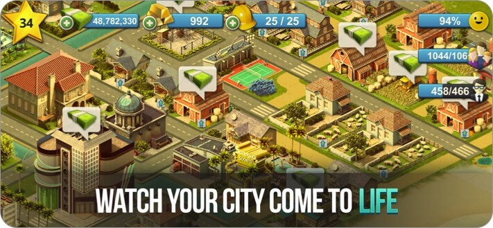 city island 4 simulation town iphone and ipad city building game screenshot