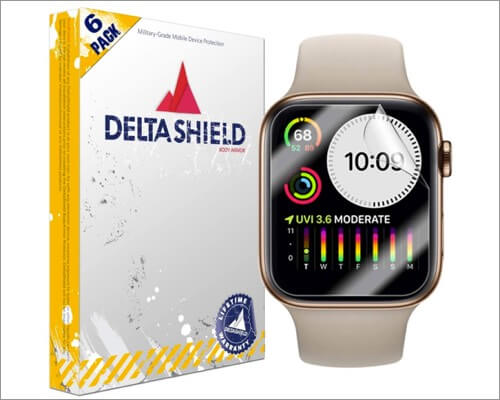 deltashield anti-bubble screen protector for apple watch series 6 and 5