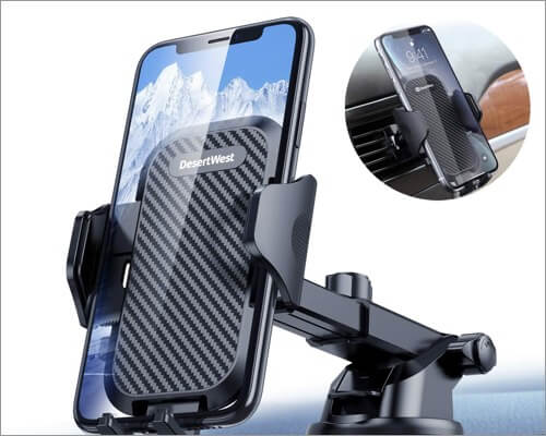 desertwest car mount for iphone 11, 11 pro, and 11 pro max