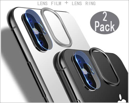 doubx hom tempered glass camera lens protector for iphone xs and xs max