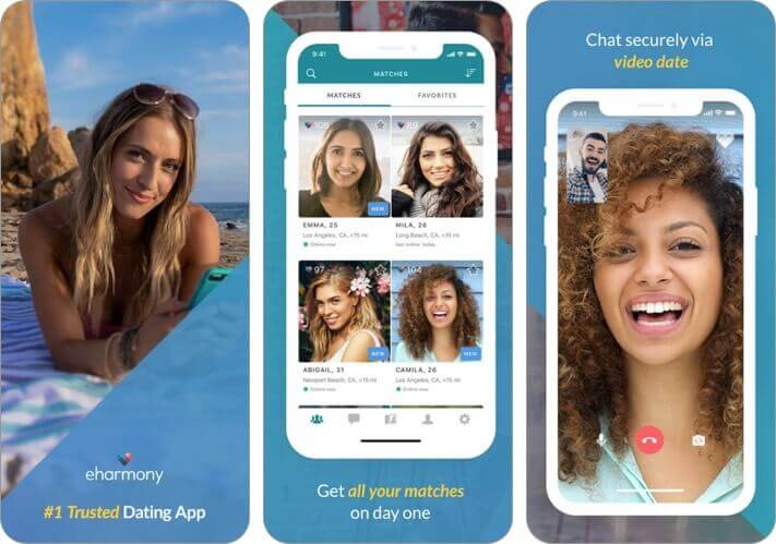 eharmony iphone dating app screenshot