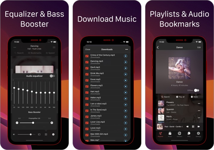 evermusic pro iphone and ipad equalizer app screenshot