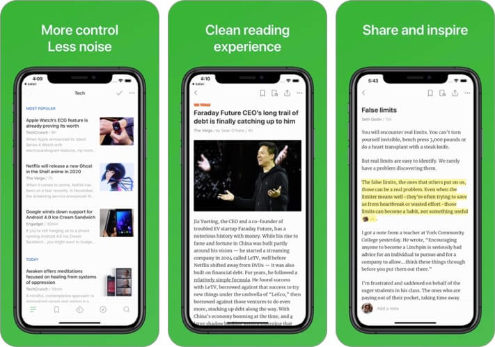 feedly iphone app screenshot