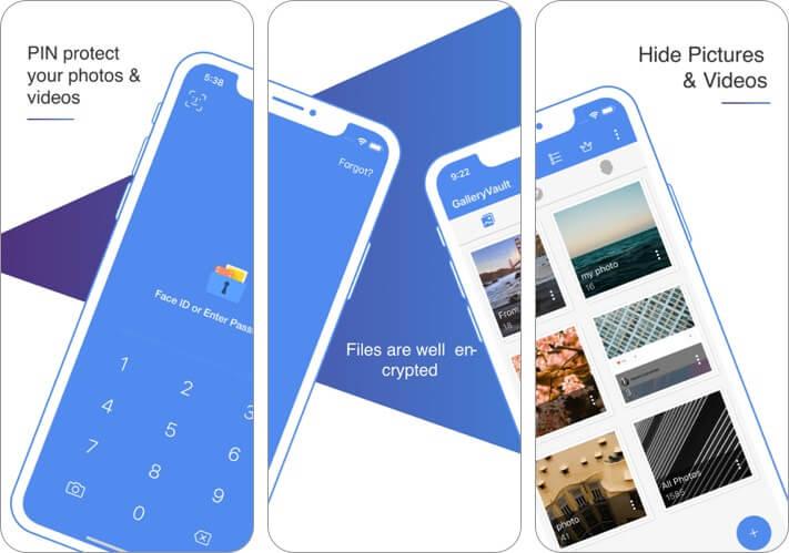 galleryvault - hide photo video screenshot for iPhone vault app