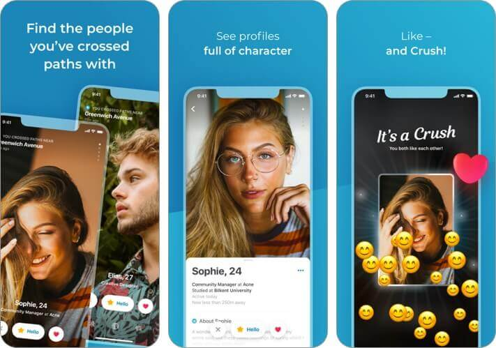happn iphone dating app screenshot