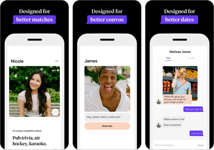 hinge: dating & relationships iphone app screenshot