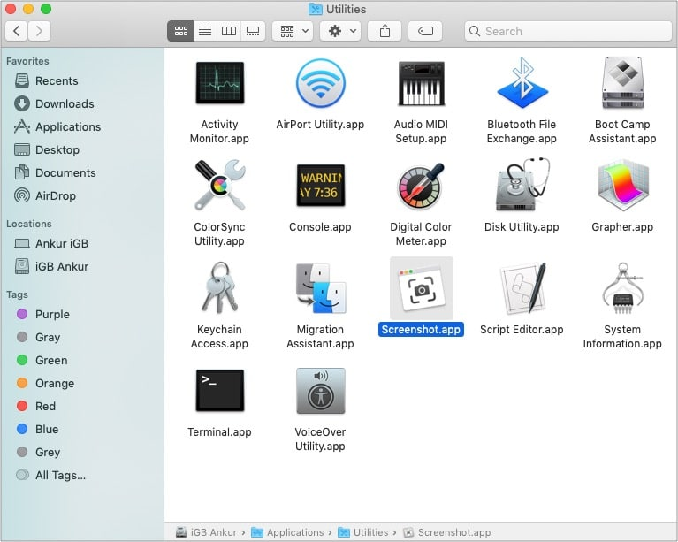 How to take a screenshot on Mac without keyboard
