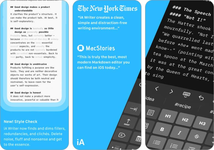 ia writer iphone app screenshot
