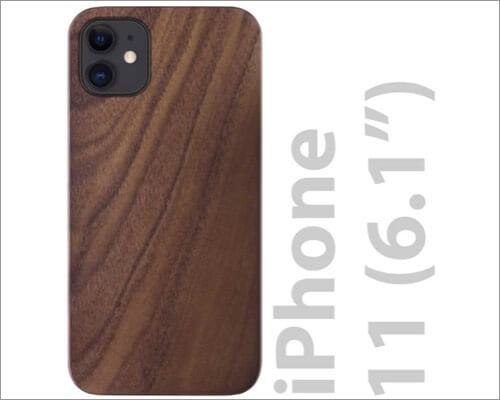 iato real walnut wooden case for iphone 11